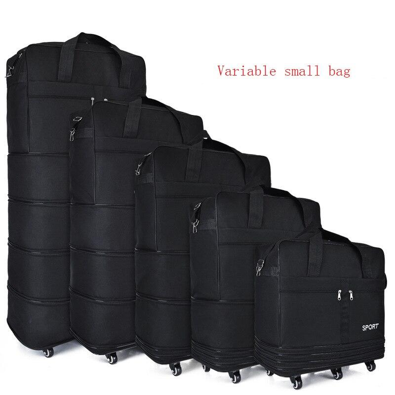 Большая вместительная портативная Дорожная сумка на колесиках, багаж может расширить авиационную клетчатая сумка, мобильный рюкзак на колесиках, сумка из ткани Оксфорд