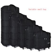 Große kapazität Tragbare Reisetasche Roll Gepäck Kann Erweitern Luftfahrt Überprüft Tasche Mobile Rollende Rucksack Oxford Tuch Tasche