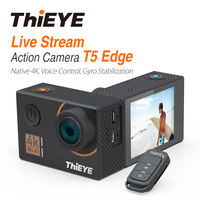 ThiEYE T5 Edge With Live Stream Cam Real 4K Ultra HD Action Camera with Gyro Stabilizer, Voice Control Underwater Sport Camera