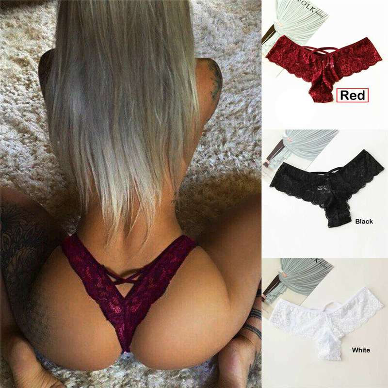 Red 1 Pack Women G-String Thongs Lot Sexy Lace Lingeries Briefs High Waist Underwear Panties Plus Size Female Underwears