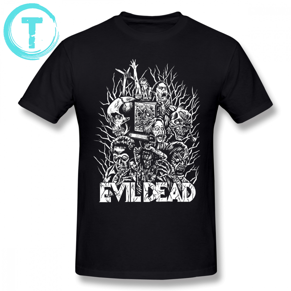 Evil Dead T Shirt Evil Dead T-Shirt 4xl Print Tee Shirt Men Awesome Summer 100 Cotton Short Sleeves Tshirt