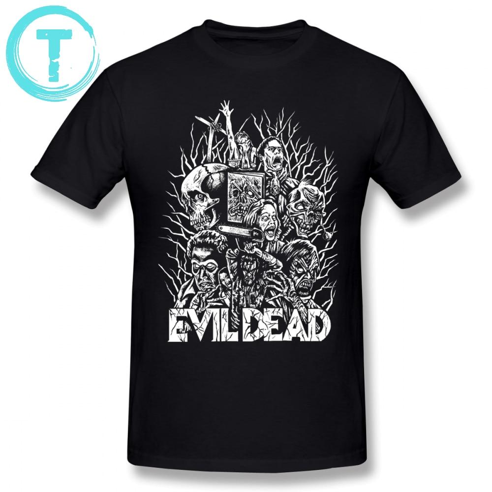 Evil Dead   T     Shirt   Evil Dead   T  -  Shirt   4xl Print Tee   Shirt   Men Awesome Summer 100 Cotton Short Sleeves Tshirt