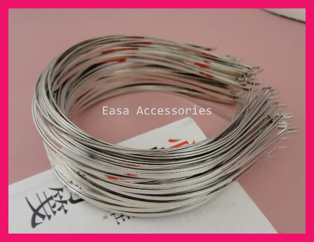 50PCS Regular Quality Silver 3mm Plain Metal Hair Headbands With Bend Tips At Lead Free And Nickle Free,BARGAIN For BULK