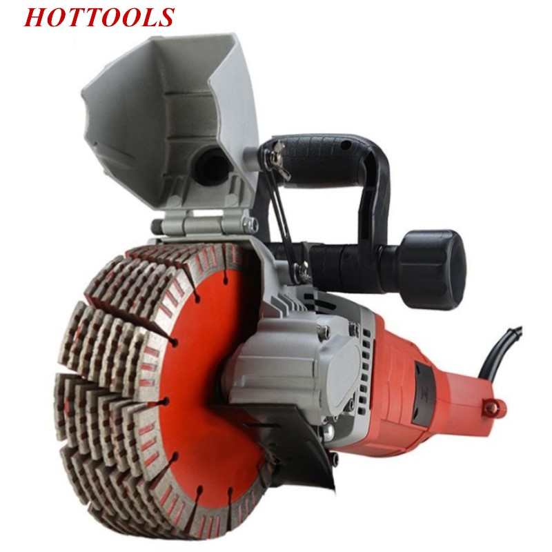 220V 2700W Slotting Groove cutting Machine Dustless Hydropower Engineering Installation Wall Mix Soil Cutting Machine Automatic