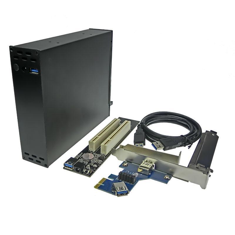 32 Bit PCI To PCI-e Express 16x Riser Extender Convert PCI-E cards into PCI slot