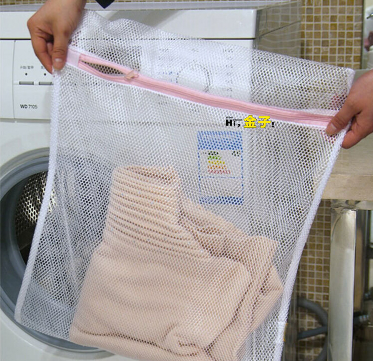 Free Shipping High Quality Reticular Fibre Clothing Wash Bag Underwear Place Bag Laundry Bag #426 Z5