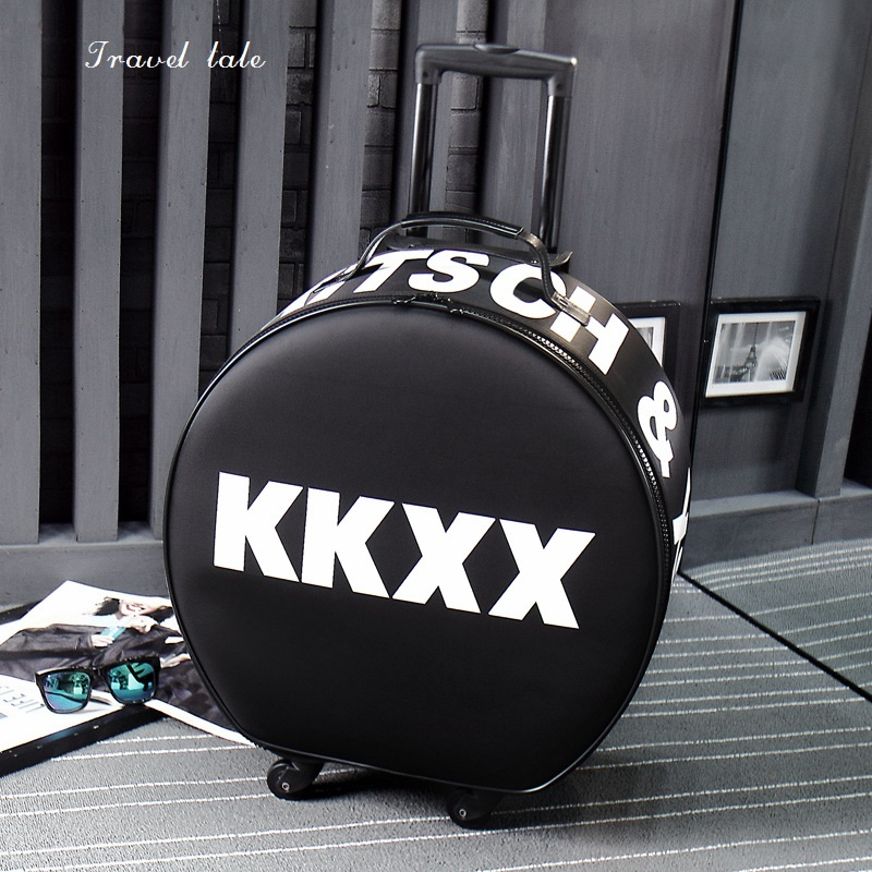 Travel tale Fashion circle personality traveling bag Rolling Luggage Spinner brand Travel Suitcase Travel tale Fashion circle personality traveling bag Rolling Luggage Spinner brand Travel Suitcase