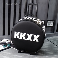 Travel tale Fashion circle personality traveling bag Rolling Luggage Spinner brand Travel Suitcase