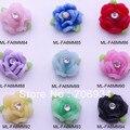 Acessórios do prego 3d plano voltar Rose 200 pçs/lote Mix moda Nail Art decorações loja plano de volta Diy Handmade resina flor para Nail