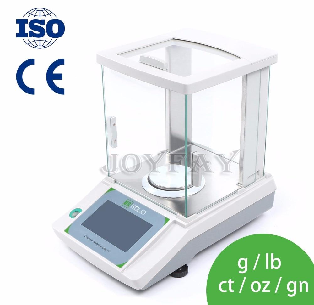 Us solide 100x0.0001g 0.1mg laboratoire Balance analytique numérique électronique GN précision Balance de poids CE écran tactile