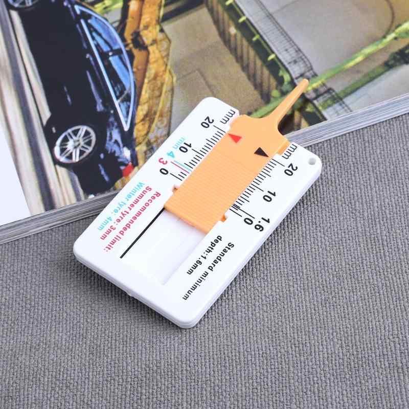 0-20 Mm Auto Mobil Pengukur Kedalaman Tapak Ban Caliper Plastik Portabel Mobil Sepeda Motor Trailer Roda Ban Ukuran Alat