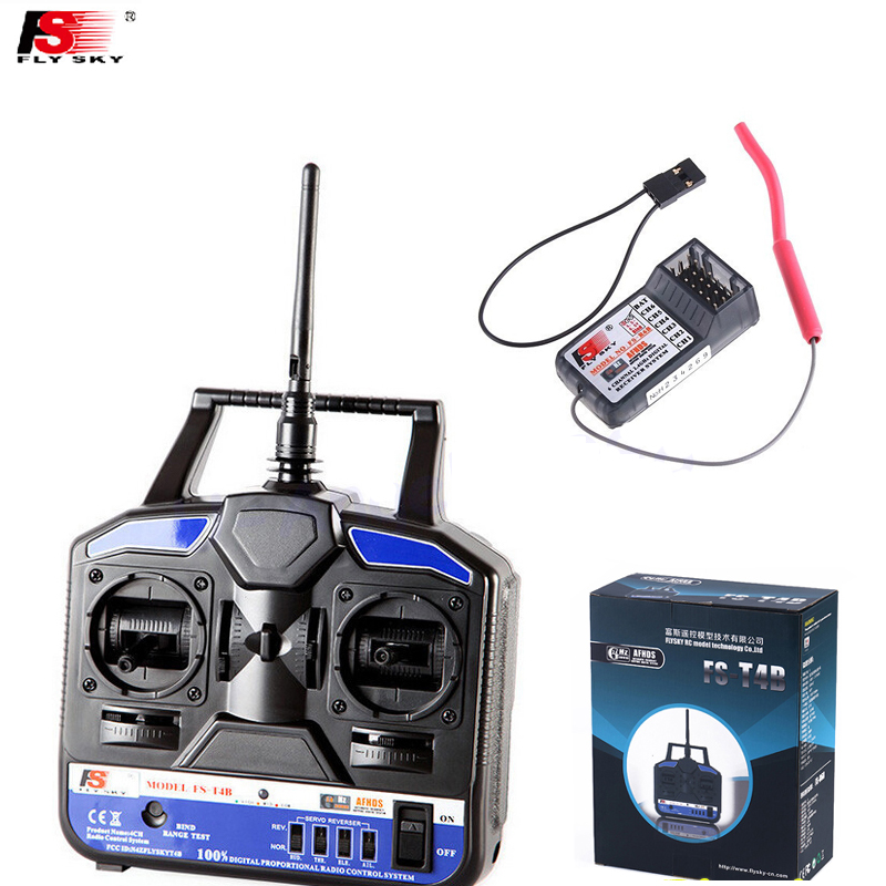 1pcs Original RC Helicopter Airplane Remote control Flysky FS 2.4G 4CH FST4B FS-T4B Radio RC Transmitter & Receiver free shipping from us 95inch 2413mm oracover film silence twister 50cc remote control balsa wood rc airplane kits arf