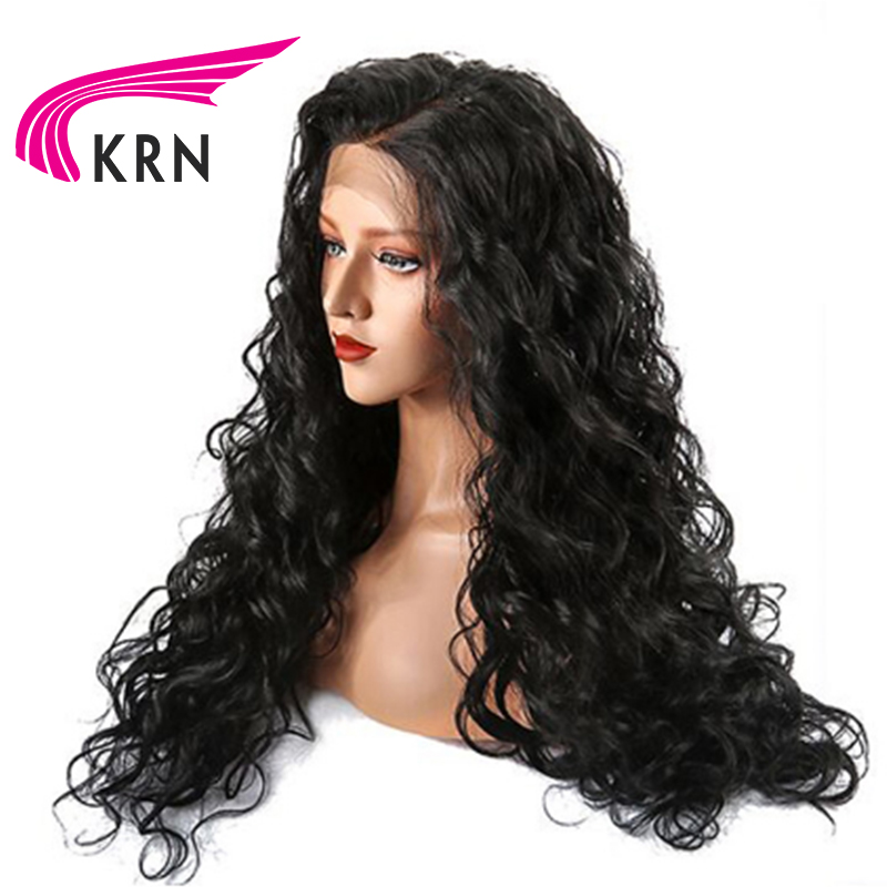 KRN Pre Plucked Brazilian Lace Front Human Hair Wigs With Baby Hair 130 Density Glueless Remy