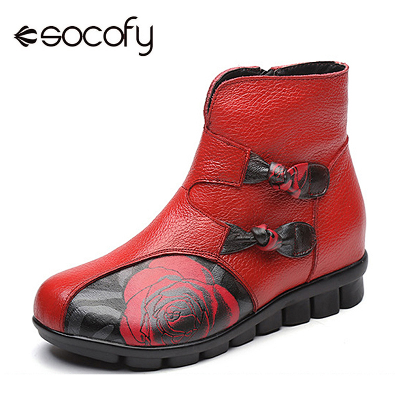 Socofy Vintage Fur-lined Boots Women Shoes Genuine Leather Ankle Boots For Women Zipper Flat Heel Winter Shoes Woman Botas MujerSocofy Vintage Fur-lined Boots Women Shoes Genuine Leather Ankle Boots For Women Zipper Flat Heel Winter Shoes Woman Botas Mujer
