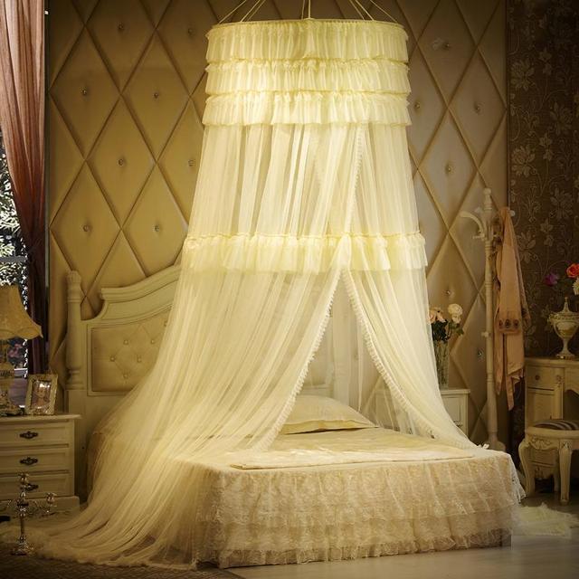 Luxus Moskitonetz Für Doppelbett, Prinzessin Spitze Palace Bett Vorhang, Baldachin  Bett Vorhänge, Mosquiteiro