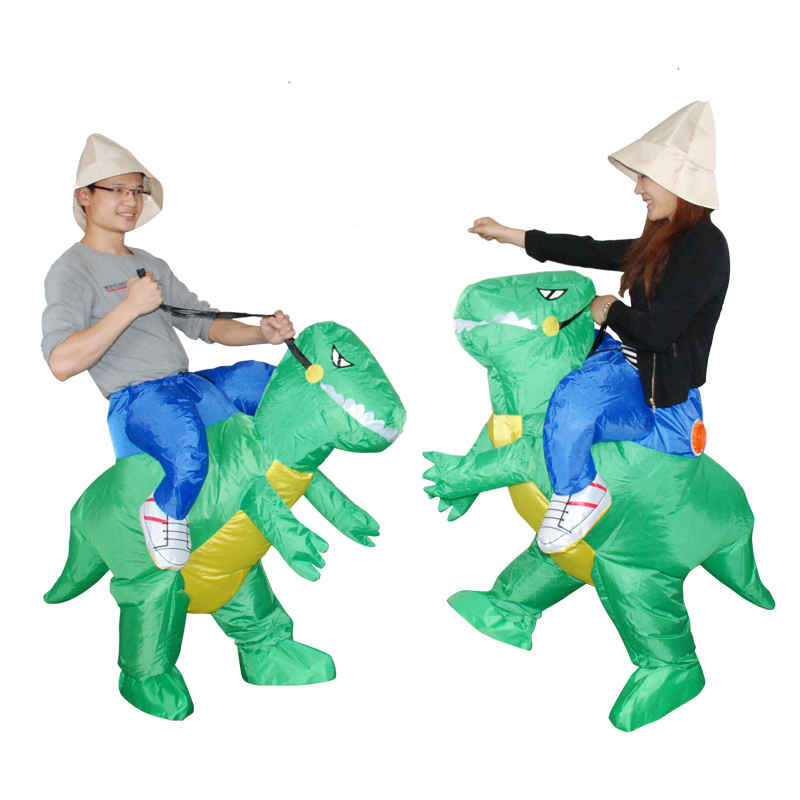 Adult Kids Men Dinosaur Costume Birthday Party Dress Inflatable Dino Costumes Halloween Cosplay for Women Full age size