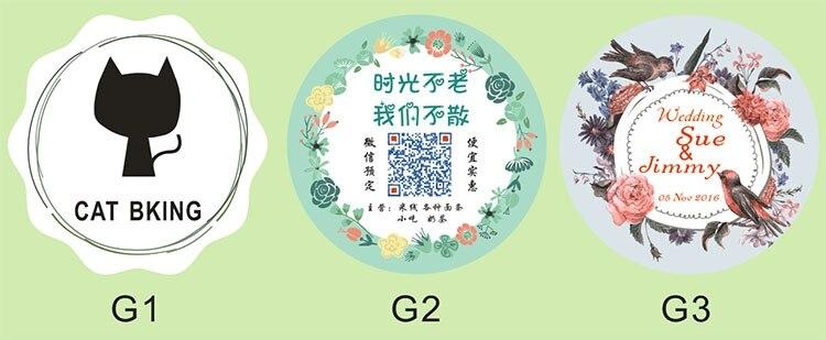 100pcs custom logo brand print wedding stickers flower labelspaper die cut sticker labels with custom logo for cookies in jewelry packaging display