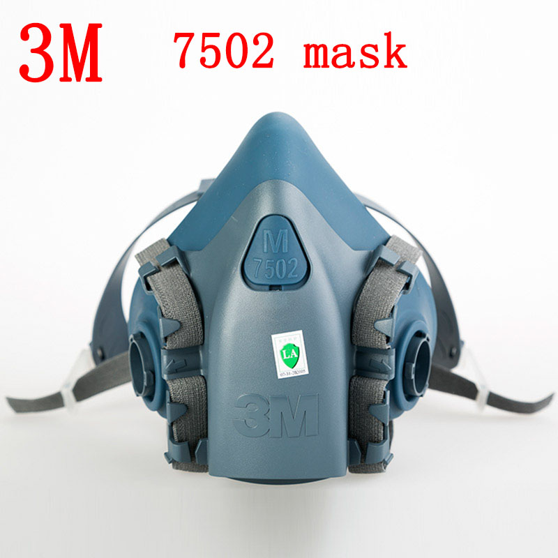 3M 7502 respirator mask Genuine production Silica gel Main mask Painting pesticide dust industrial safety respirator face mask geometry laser women bao bao bags women shoulder bag transformation luminous laser geometric bag diamond lattice women handbags