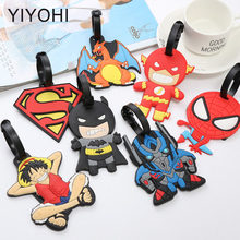 Cartoon Anime Spiderman Luggage Tag Travel Accessories Silica Gel Suitcase ID Addres Holder Baggage Boarding Tags Portable Label(China)