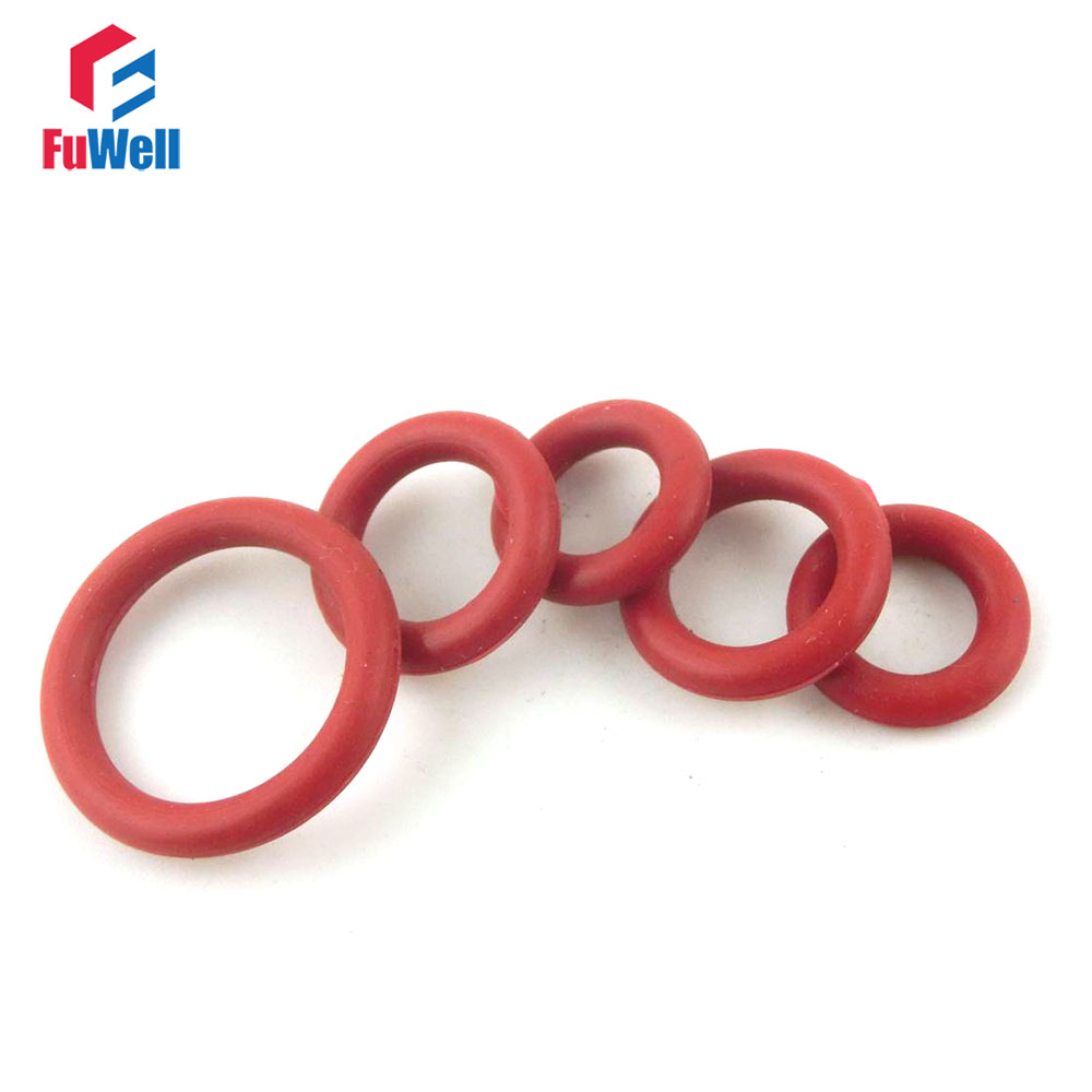 200pcs Red Silicon Rubber O-rings Seals 1.9mm Thickness 6/7/8/9/10/11/12/13/14/15/16mm OD O Rings Seals Gasket Washer