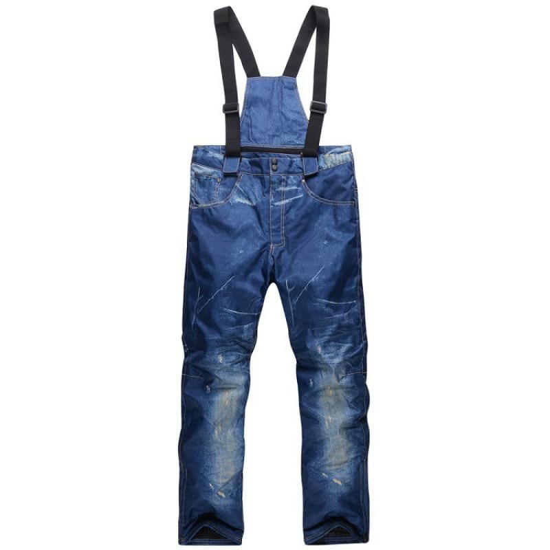 Outdoor Men Skiing Snowboard Pants Jeans Windbreak Warm Wear-resisting Trousers Mens Climbing Hiking Sports Pants