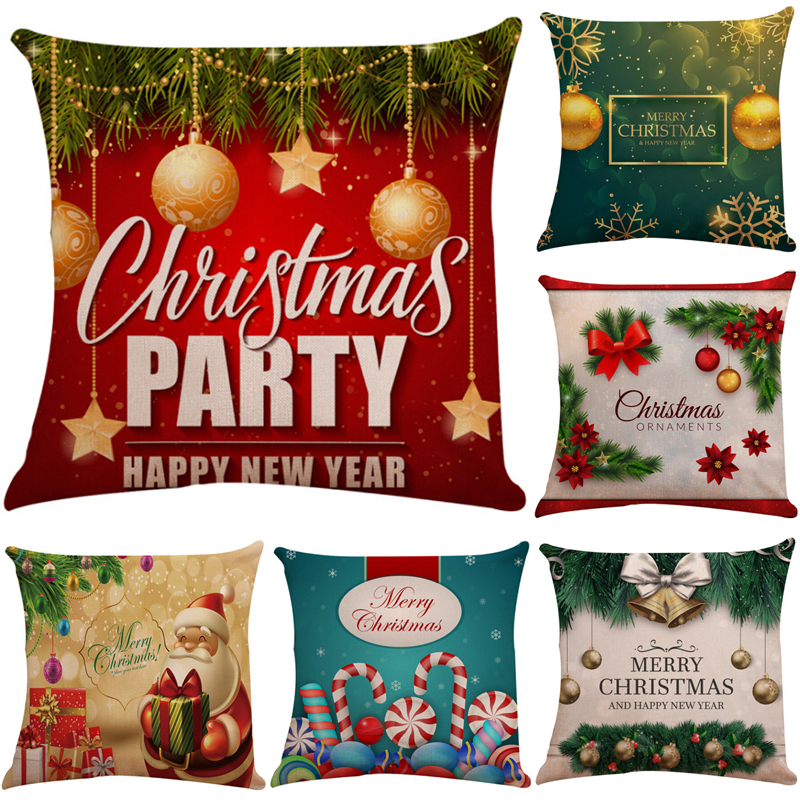 Overwatch Christmas 2019.Us 1 97 29 Off 45x45 Christmas Pillow Case Home Decor Sofa Cushion Throw Pillows Cover Festival Decorative Pillowcase Overwatch 2019 In Pillow Case