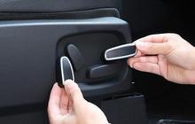 ABS Matt Interior Car Seat Adjustment Button Cover Trim 4pcs/set For Land Rover LR4 Discovery 4 2010 2011 2012 2013 2014 2015