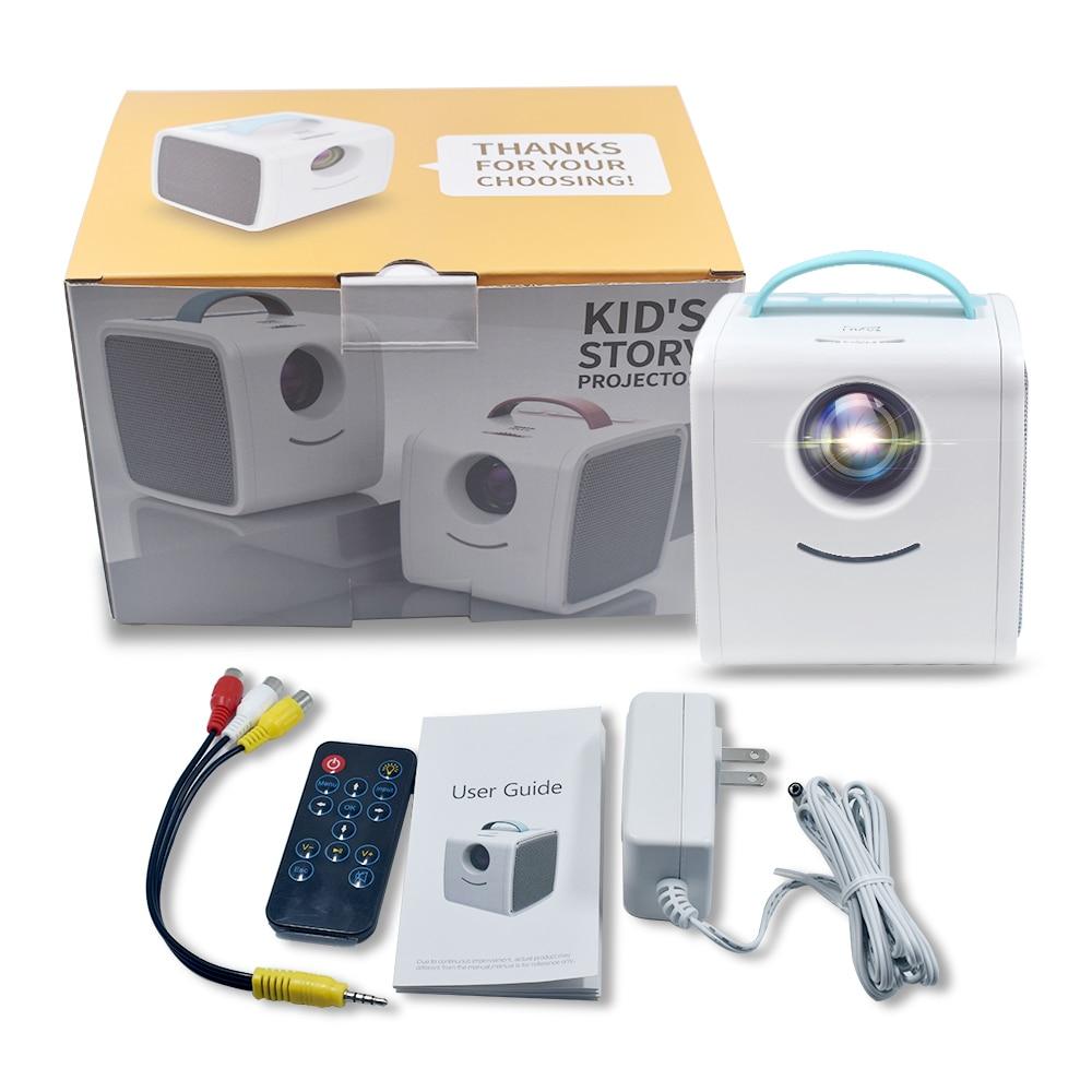 Salange q2 mini projetor portátil projetor sistema de teatro em casa crianças educação presente das crianças pai-criança mini led beamer-5