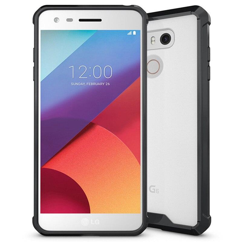 E համար LG G6 Case Crystal Hybrid Bumper Clear TPU PC - Բջջային հեռախոսի պարագաներ և պահեստամասեր - Լուսանկար 6