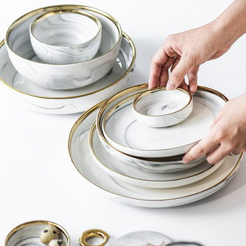 Ceramic Dinner Set and Kitchen Dish Set Used as Dinnerware and Tableware