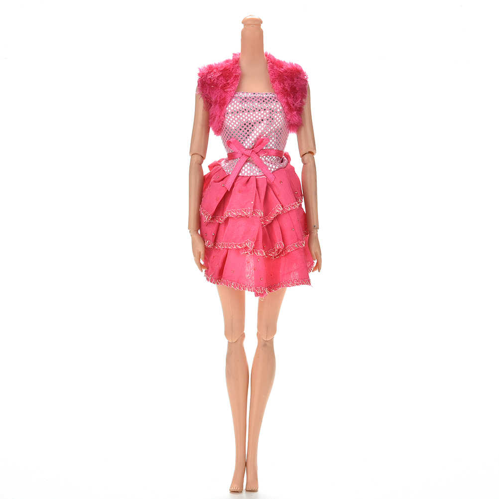Multi styles Elegant Handmade party Dress For   Doll Floral Doll Dress Clothes Clothing Or Crystal shoes Dolls Accessories