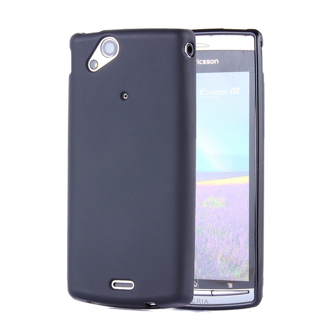 Black Gel TPU Slim Soft Anti Skiding Case Back Cover For Sony Ericsson Xperia Arc S X12 LT15i LT18i silicone Bag Coque Fundas