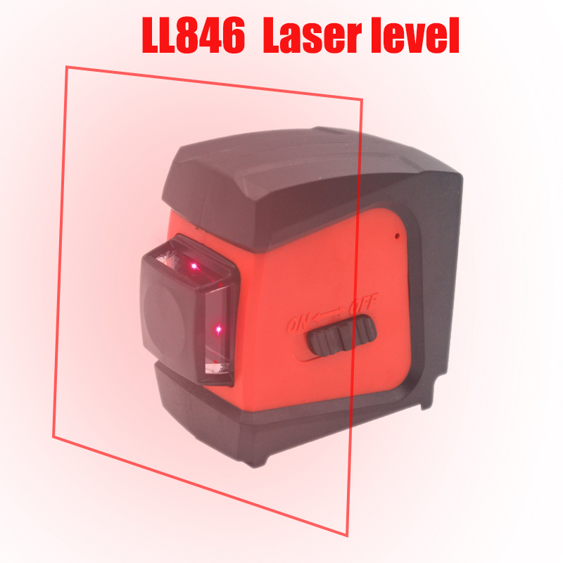 CDEK LL846 Red Lase Level 360 Degree 2 Lines (Auto Self-leveling in the Range of 3 Degrees) Rotary Wall Leveling Instrument firecore a8846 mini 4 lines 360 degrees red laser level auto self levelling in the range of 3 degrees
