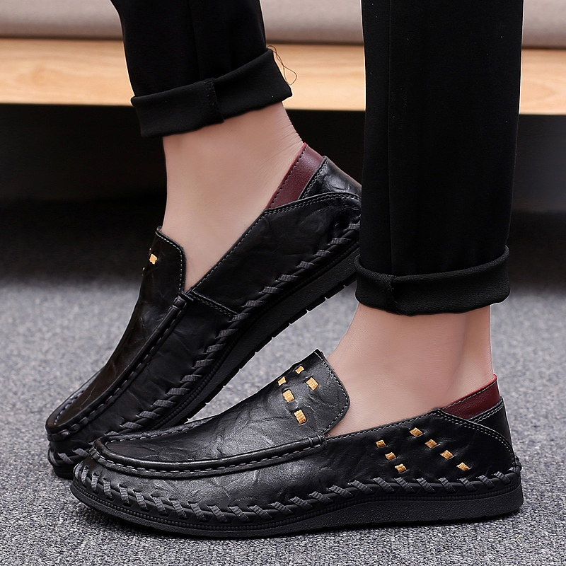 Men Boat Shoes Casual Outdoor  Genuine Leather Fashion Trend Slip On Driving Shoes Men Business  Wedding Dress ShoesMen Boat Shoes Casual Outdoor  Genuine Leather Fashion Trend Slip On Driving Shoes Men Business  Wedding Dress Shoes