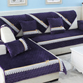 Plush Plain Dyed Modern Solid Combination Kit Sectional Sofa Sofa Cover