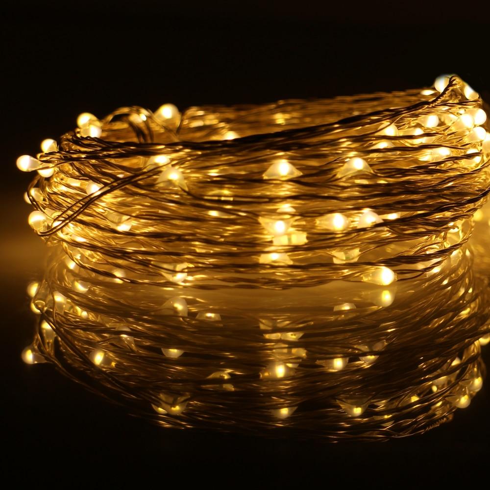 3 * 33Ft 100 LED-tilkoblingsbar utendørs julestjernelys kobbertråd - Ferie belysning - Bilde 3