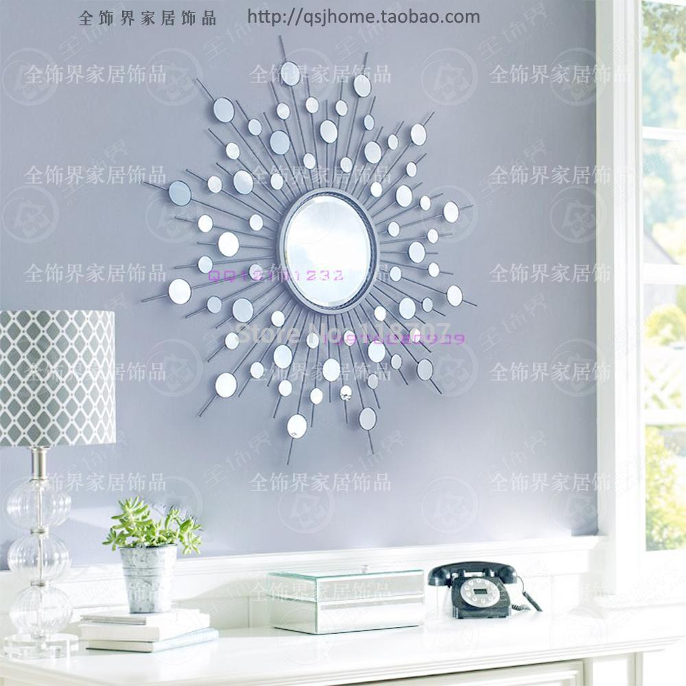 Buy metal wall mirror decor modern for Modern mirrored wall art