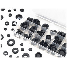 125pcs Rubber Ring Sealing Grommet Firewall Hole Plug Set Harness Electrical Wire Gasket Assortment Kit