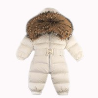 Newborn Winter Romper Baby Snowsuit Infant Overcoat Kids Snow Wear Jumpsuit Duck Down Coatton Liner Child