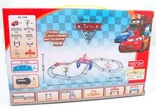 Children toys electric Thomas rail car kid train track model slot toy baby racing car double orbit car birthday gift 22PCS 1308A