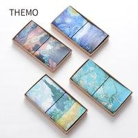 Famous Van Goah Painting PU Leather Cover Planner Notebook Diary Book Exercise  Notepad Gift Stationery