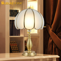 2017 Top Fashion Limited 6 10w Table Lamps For Living Room Fashion Bedroom Bedside Lamp Copper Led Rustic Luxury Table Lamps