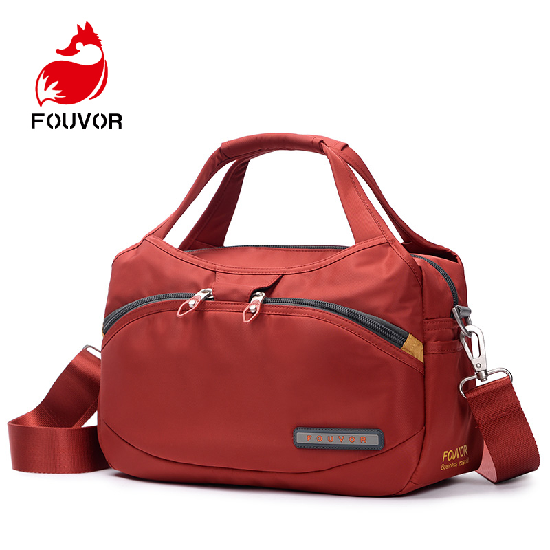 Fouvor Brand Women Casual Tote Bags Messenger Bag Waterproof Men Belt Bag Oxford Zipper Bag Crossbody For Male DropShipping
