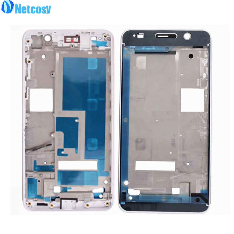 Netcosy For Huawei Honor 6 White Housing Middle Frame Bezel Middle Plate Cover replacement parts For Huawei Honor 6