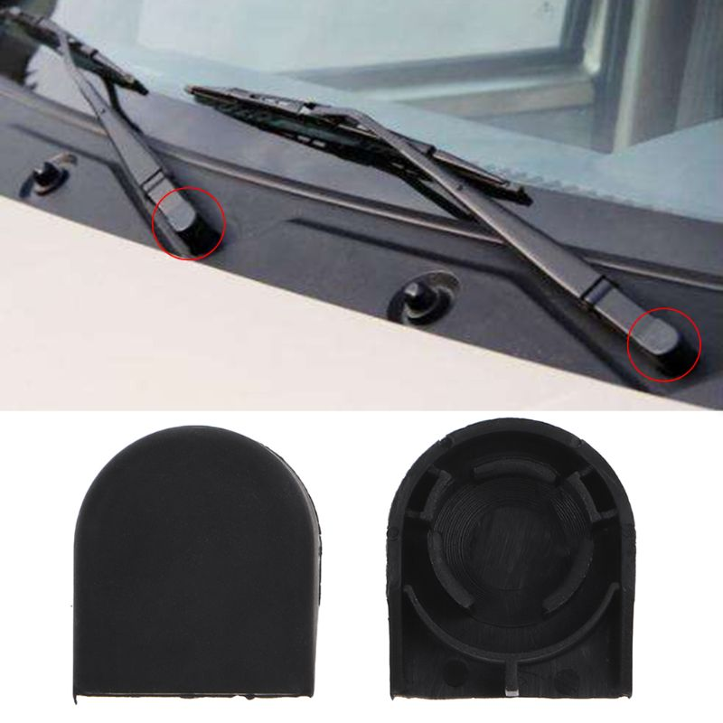 2Pcs Vehicle Car Wiper Arm Head Cap For <font><b>Toyota</b></font> Yaris <font><b>Corolla</b></font> Plastic Auto Car Wiper Cover Car Wiper Protector Cap Accessories image