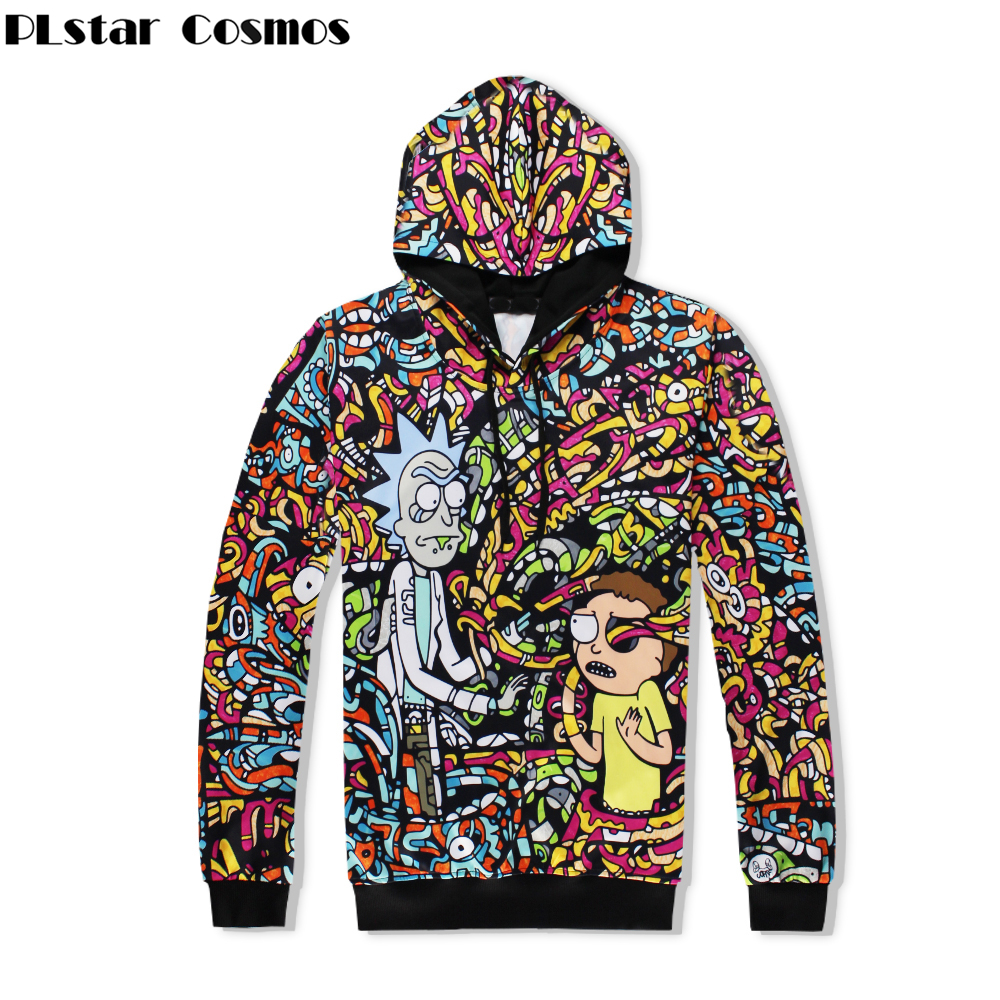 PLstar Cosmos Harajuku 2018 Autumn New Fashion Men/Women 3d Sweatshirts Cartoon Print rick and morty casual Hooded Hoodies
