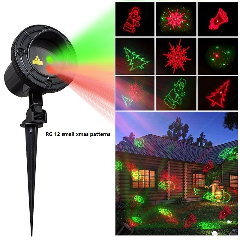 Star Laser Christmas Light With RF Wireless Remote Controlled RG Laser Star Projector Show For Christmas