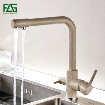 цена на FLG Waterfilter Taps Kitchen Faucets Brass Mixer Drinking Kitchen Purify Faucet Kitchen Sink Tap Water Tap Crane For Kitchen