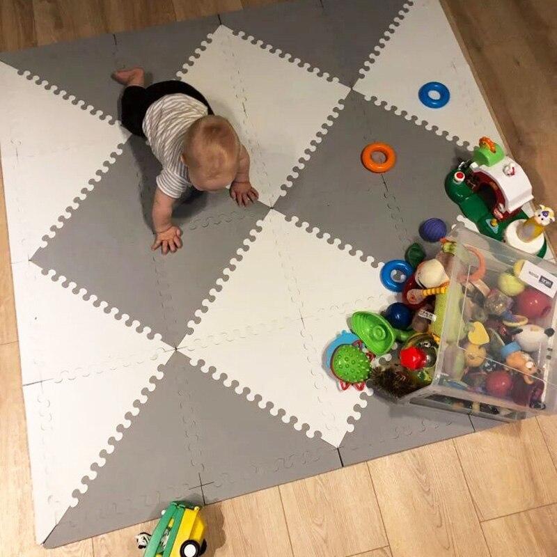 MQIAOHAM tapis de jeu bébé tapete infantil tapis enfant jouets pour enfants tapis de jeu puzzle eva mousse gym enfants tapis triangle 35 CM * 1 CM