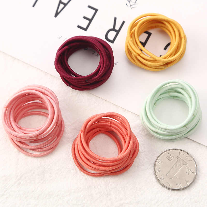 100pcs Lot 3 Cm Girls Elastic Hair Bands Rubber Band Scrunchies